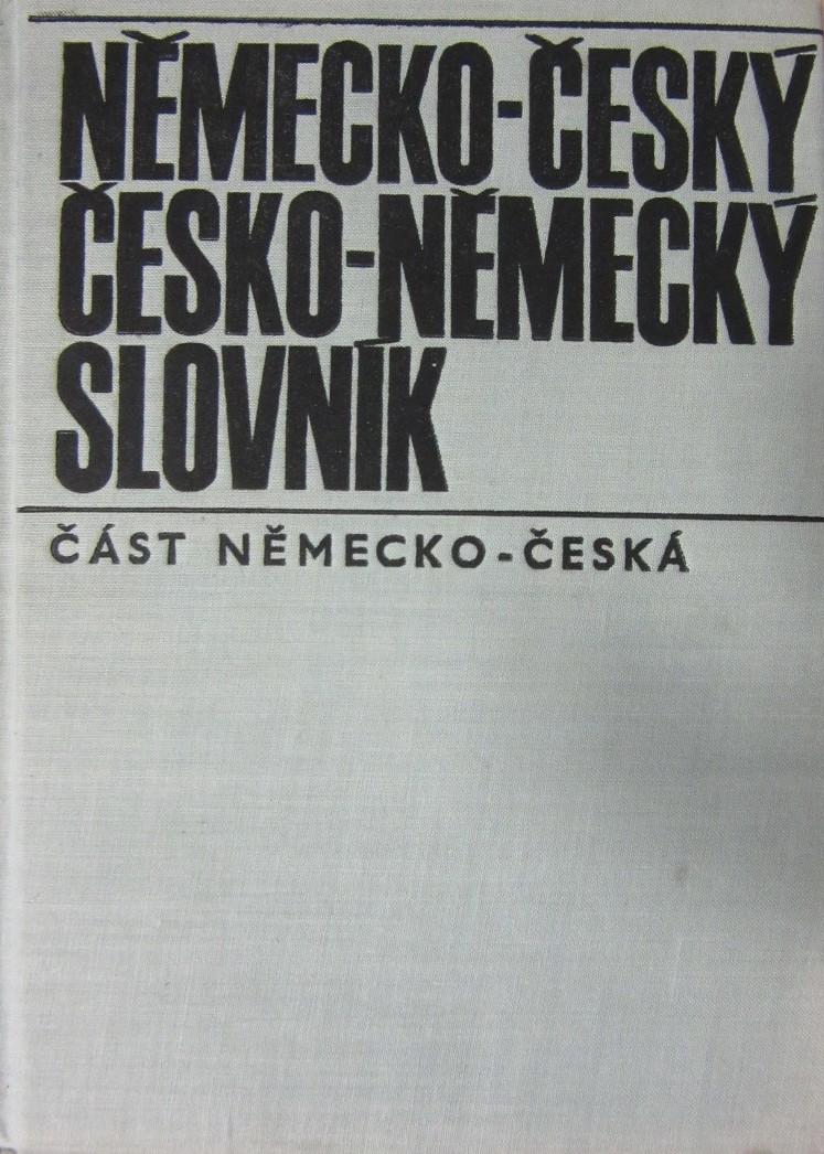Německo-český Česko-německý slovník - část Německo-česká /bazarové zboží/