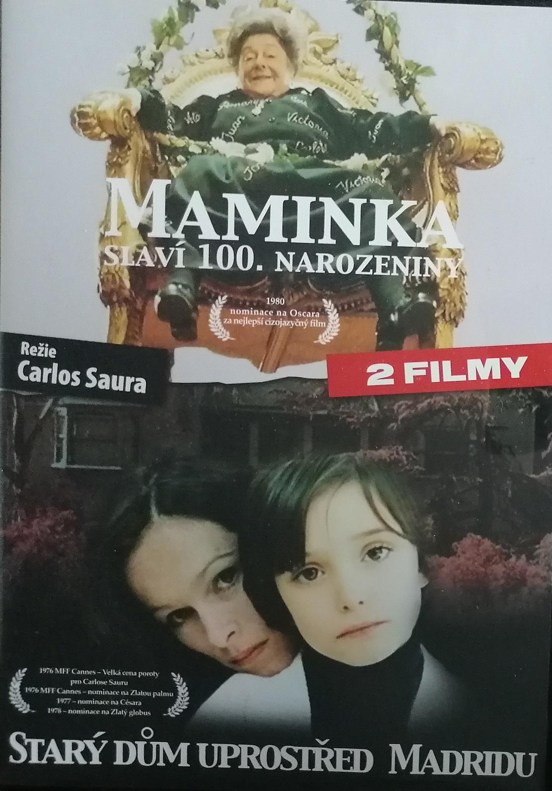 Maminka slaví 100.narozeniny/Starý dům uprostřed Madridu - DVD plast