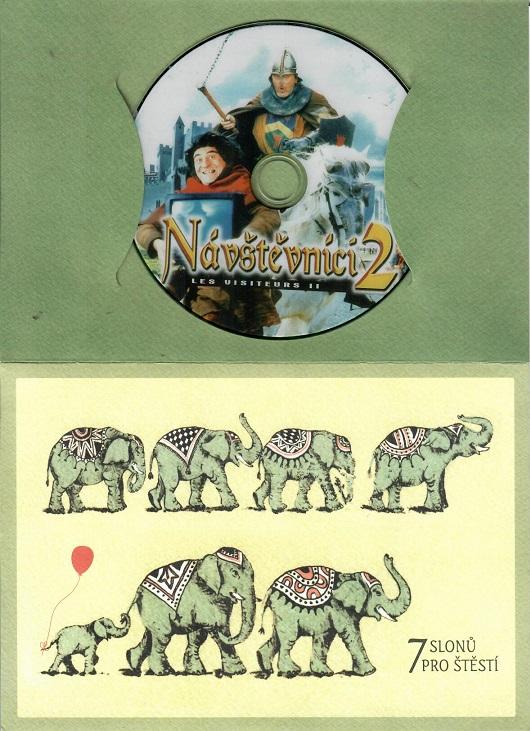 Návštěvníci 2, francouzský film (Jean Reno) dárkový papír obal DVD