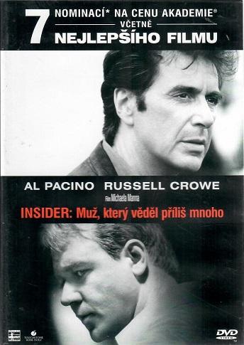 Insider: Muž, který věděl příliš mnoho - DVD plast