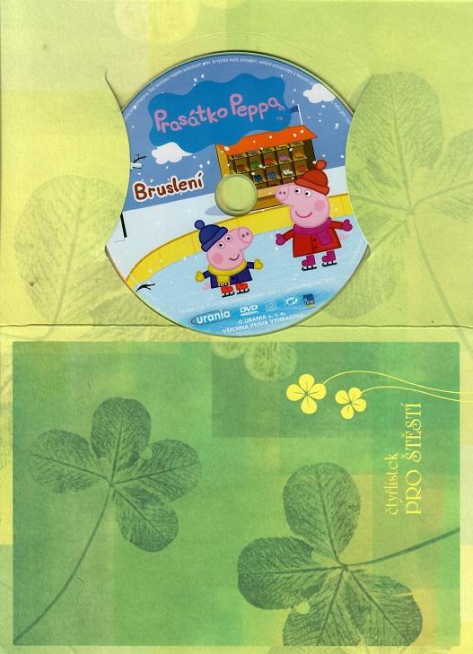 Prasátko Peppa - Bruslení ( dárkový papír obal ) DVD