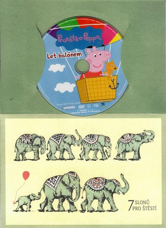 Prasátko Peppa - Let balónem ( dárkový papír obal ) DVD
