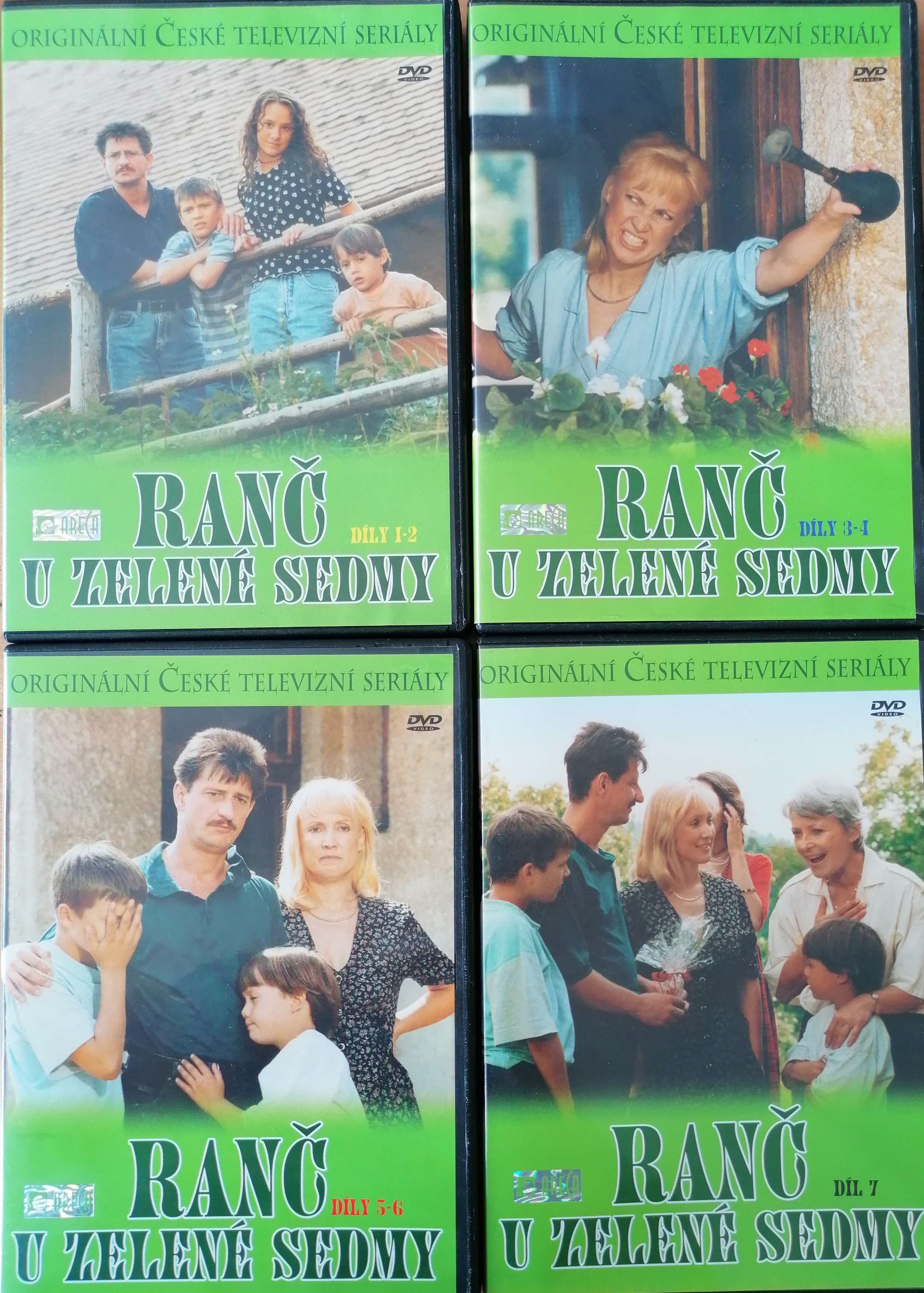 Kolekce Ranč u Zelené sedmy  - 4x  DVD plast