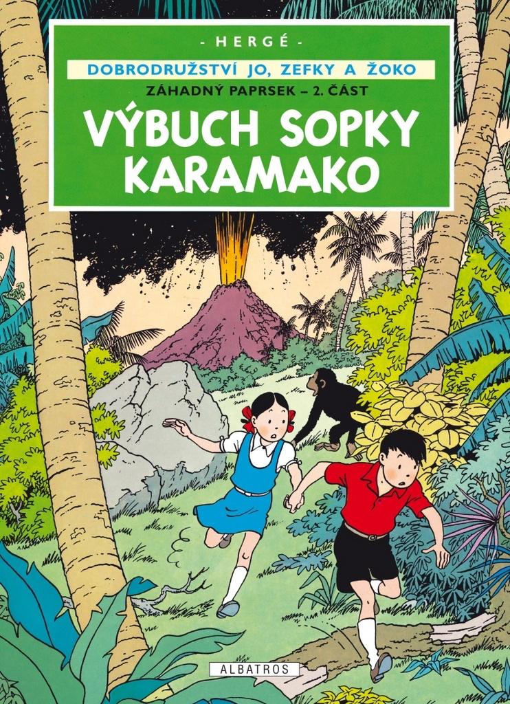 Dobrodružství Jo, Zefky a Žoko - Výbuch sopky Karamako - Záhadný paprsek - 2. část - Hergé