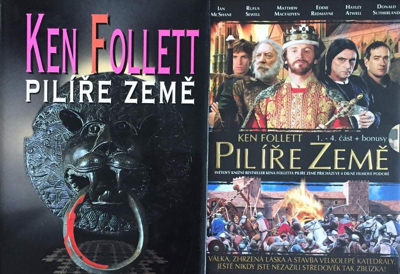 Pilíře Země - Ken Follett - Kolekce kniha + DVD /kniha bazarová/