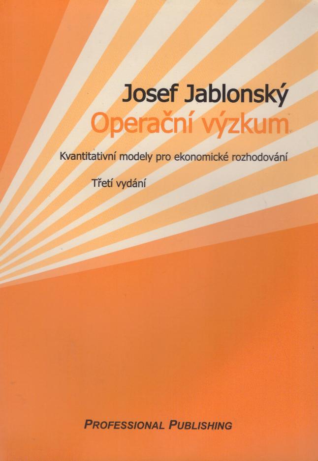 Operační výzkum - Josef Jablonský /bazarové zboží/