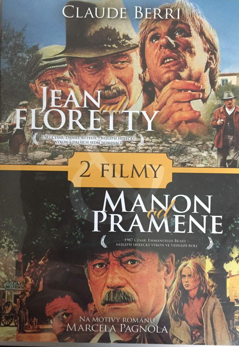 Jean od Floretty / Manon od Pramene - 2 x DVD plast