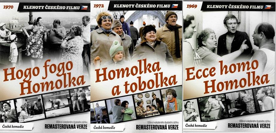 Kolekce Homolka 3x DVD remasterovaná verze ( plast )