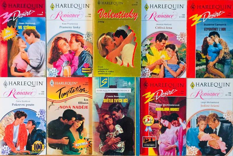 Velká knižní kolekce Harlequin LXII. - 10x bazarová kniha