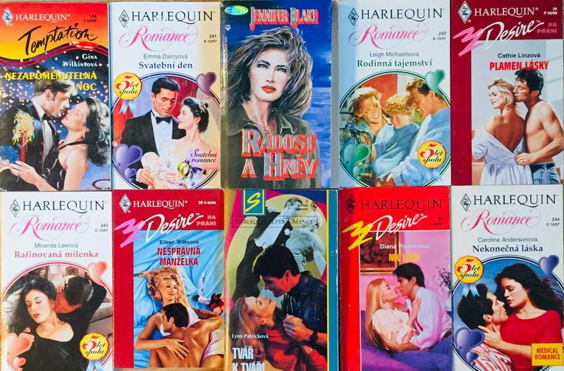 Velká knižní kolekce Harlequin LXIII. - 10x bazarová kniha