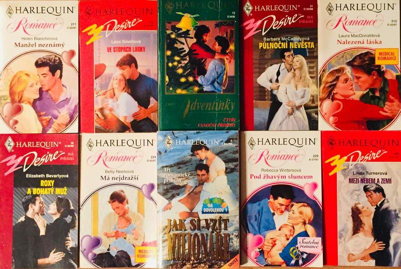 Velká knižní kolekce Harlequin LXIX. - 10x bazarová kniha