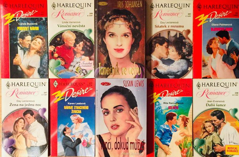 Velká knižní kolekce Harlequin LXXII. - 10x bazarová kniha