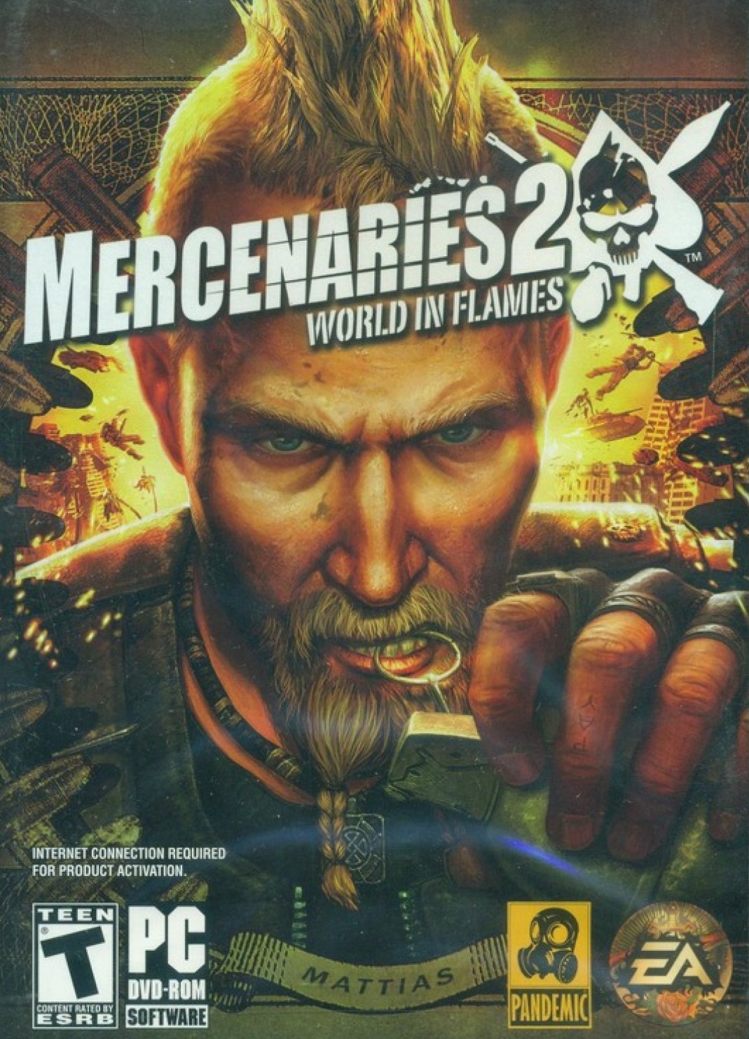 PC hra - Mercenaries 2 - World in Flames - DVD-ROM /plast//bazarové zboží/