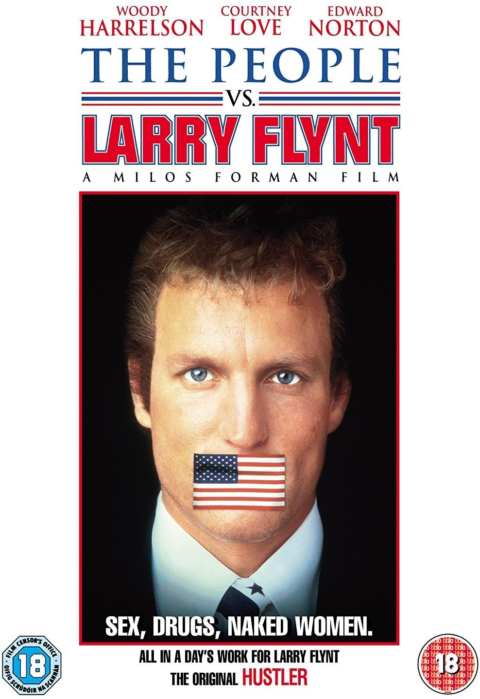 The People vs. Larry Flynt / Lid versus Larry Flint - DVD /plast/