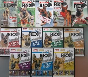 Knižní kolekce Komisař REX ( 5x kniha bazarová + 7x DVD )