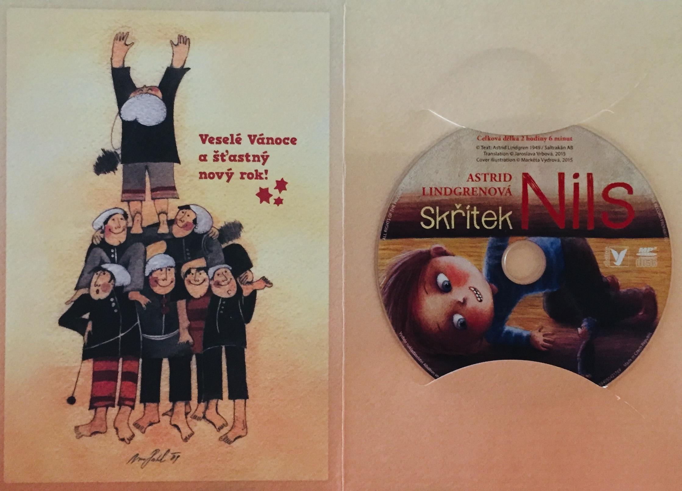 Skřítek Nils - Astrid Lindgrenová - CD Audiokniha /dárkový obal/