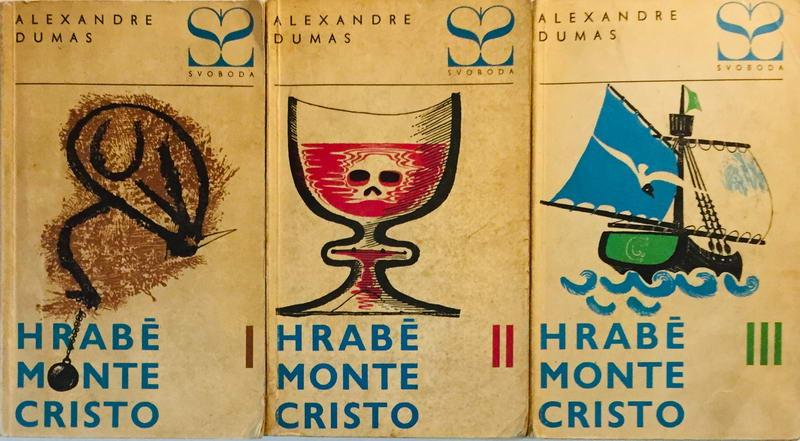 Knižní kolekce Hrabě Monte Cristo - Alexandre Dumas - 3 x kniha /bazarové zboží/