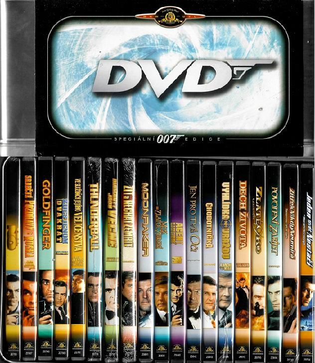 kolekce 007 James Bond ( speciální 007 edice ) plast DVD originální znění, CZ tiulky