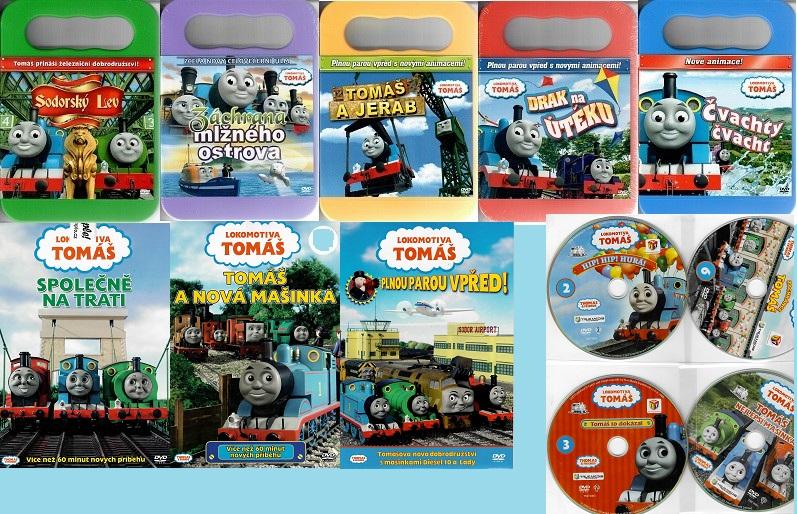 Velká kolekce Lokomotiva Tomaš -  13 DVD