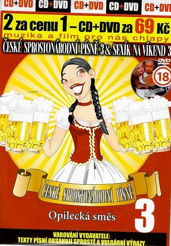 České sprostonárodní písně a Sexík na víkend 3 ( pošetka ) CD+DVD