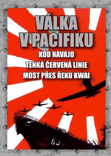 Válka v Pacifiku - Kód Navajo / Tenká červená linie / Most přes řeku Kwai - 3xDVD /plast v šubru/
