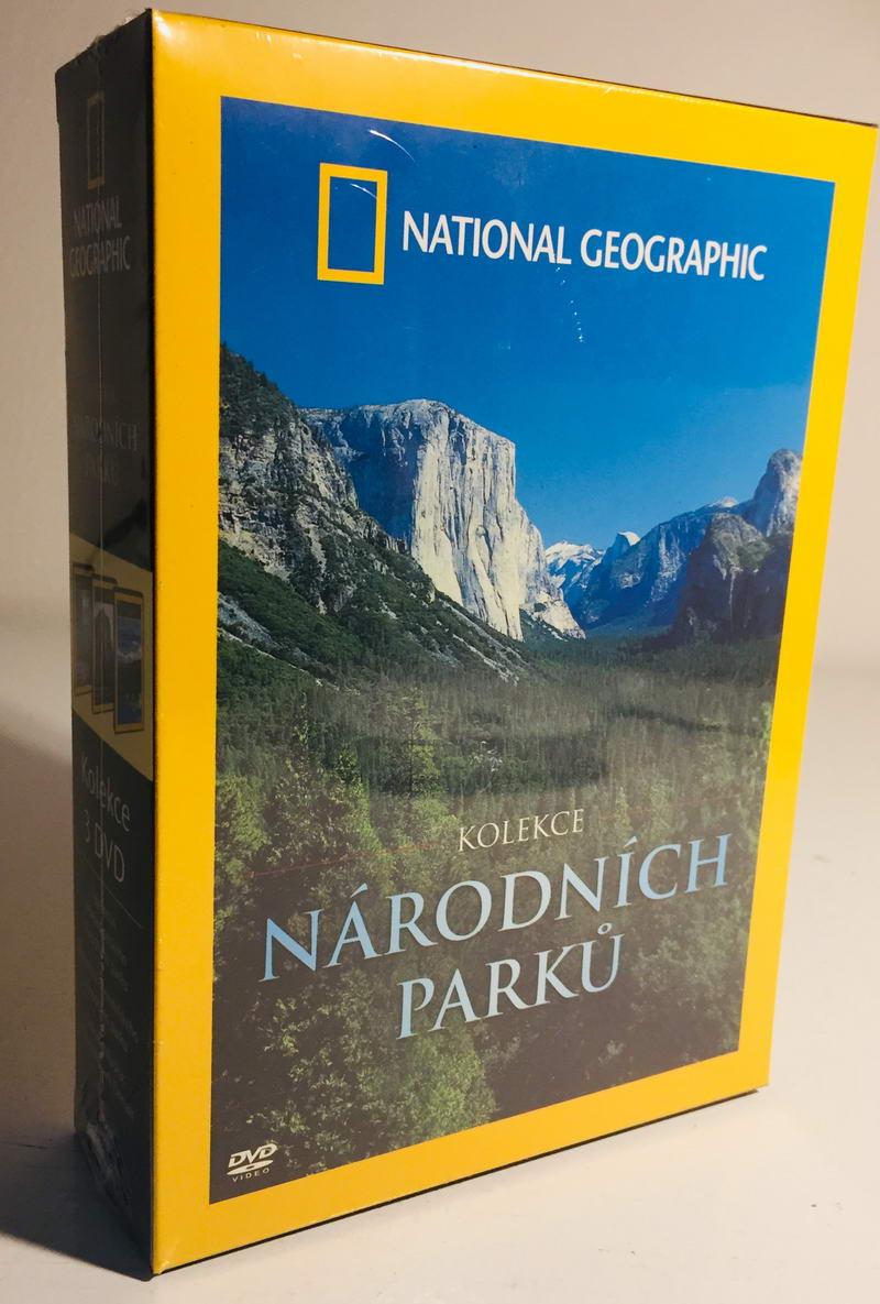 Kolekce národních parků - National Geographic - 3xDVD /plast v šubru/