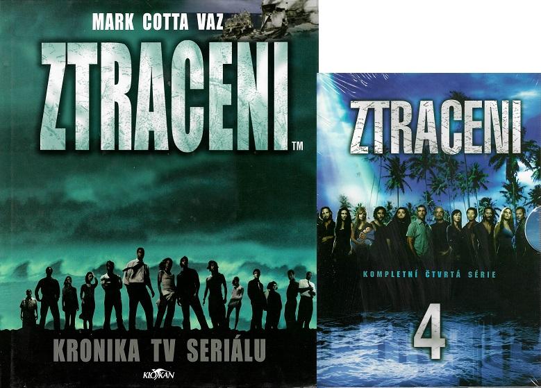 Ztraceni/ Kronika TV seriálu - mark Cotta Vaz ( 1x kniha bazarová + 3 DVD- 4. série )