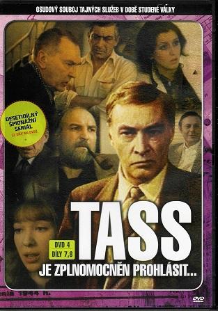 TASS je zplnomocněn prohlásit... DVD 4, díly 7,8 (TV seriál) - plast DVD