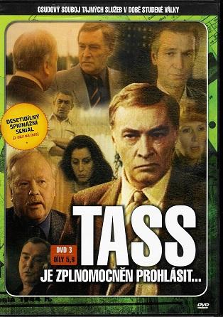 TASS je zplnomocněn prohlásit... DVD 3, díly 5,6 (TV seriál) - plast DVD