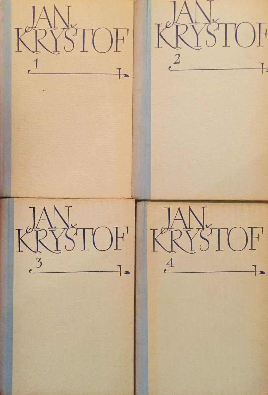 Knižní kolekce Jan Kryštof - Romain Rolland - 4 x kniha /bazarové zboží/