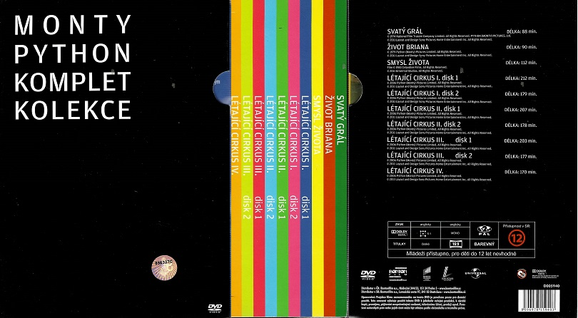 10 DVD Monty Python komplet kolekce ( slim ) DVD