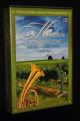 Morava krásná zem - Nejkrásnější písničky z Moravy s dechovkou - 8xDVD /plast/
