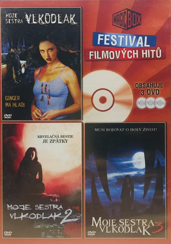 Moje sestra vlkodlak 1, 2, 3 - Festival filmových hitů - 3xDVD /plast/