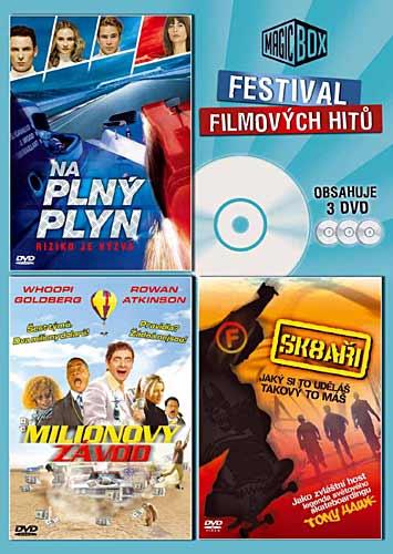 Na plný plyn / Milionový závod / Sk8aři - Festival filmových hitů - 3xDVD /plast/