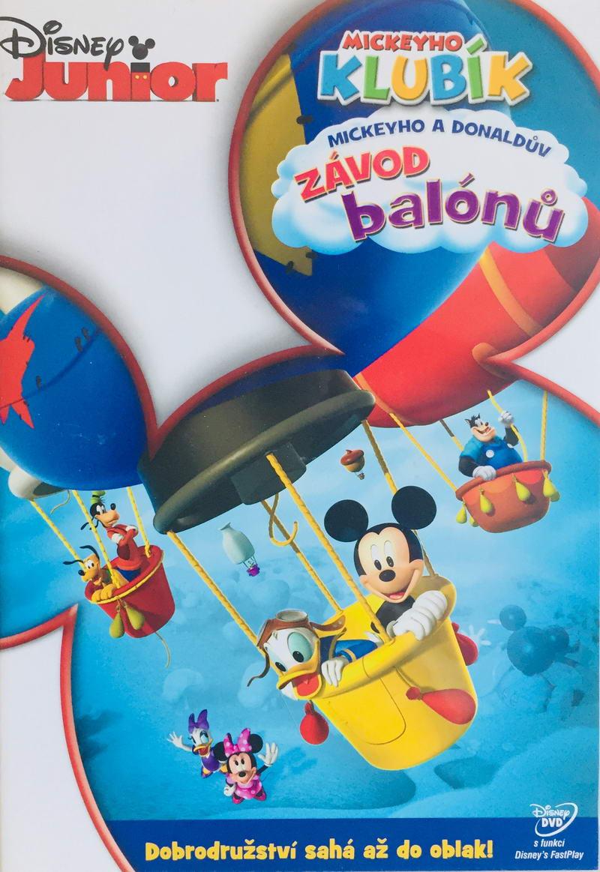 Mickeyho klubík - Mickeyho a Donaldův závod balónů - DVD /plast/