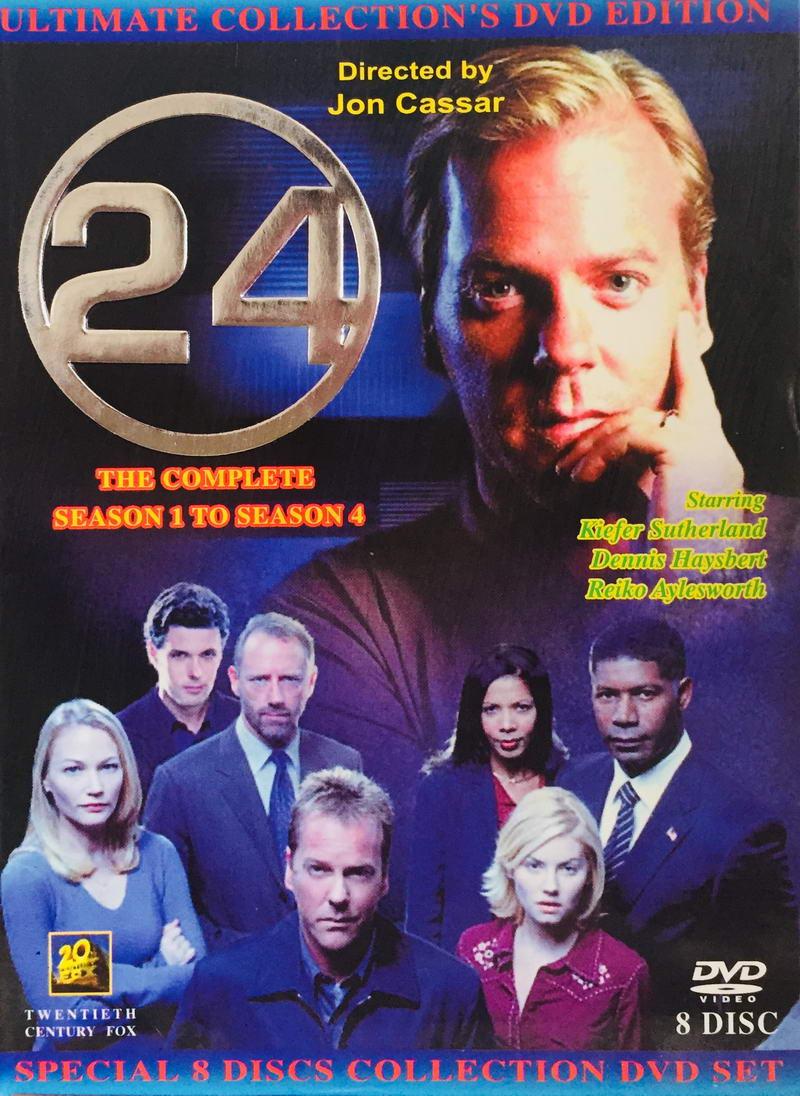 24 Twenty Four -The Complete Season 1-4 - v originálním znění bez CZ titulků - 8xDVD /multi digipack v šubru/
