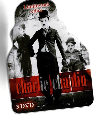 Charlie Chaplin - 3DVD/ limitovaná edice / Steelbook