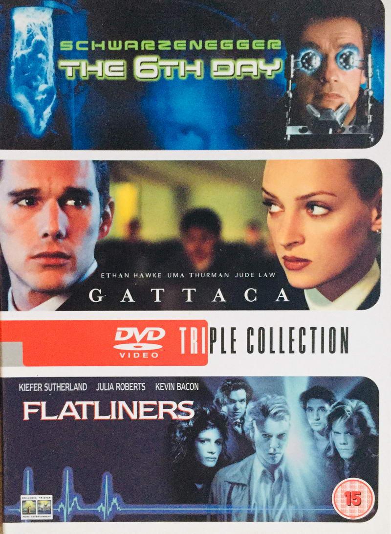 The 6th Day / Gattaca / Flatliners - v originálním znění s CZ titulky - 3xDVD /3xplast v šubru/