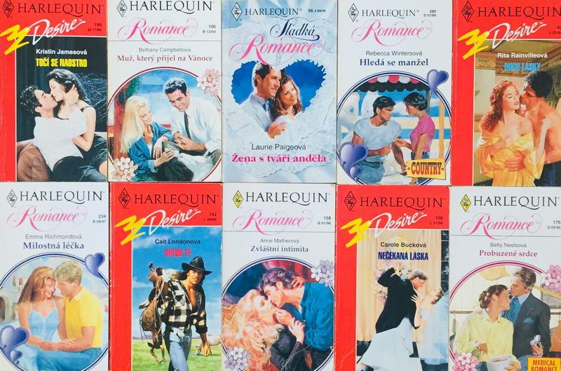 Velká knižní kolekce Harlequin 9. - 10x bazarová kniha