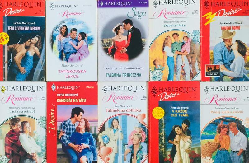 Velká knižní kolekce Harlequin 10. - 10x bazarová kniha