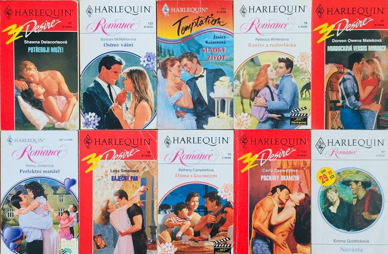 Velká knižní kolekce Harlequin 11. - 10x bazarová kniha
