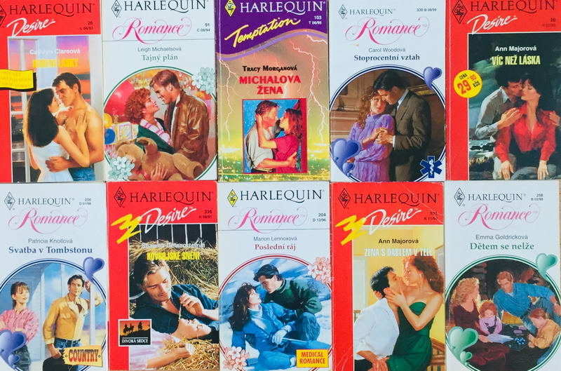 Velká knižní kolekce Harlequin 12. - 10x bazarová kniha