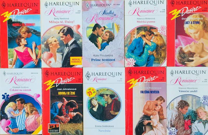 Velká knižní kolekce Harlequin 13. - 10x bazarová kniha