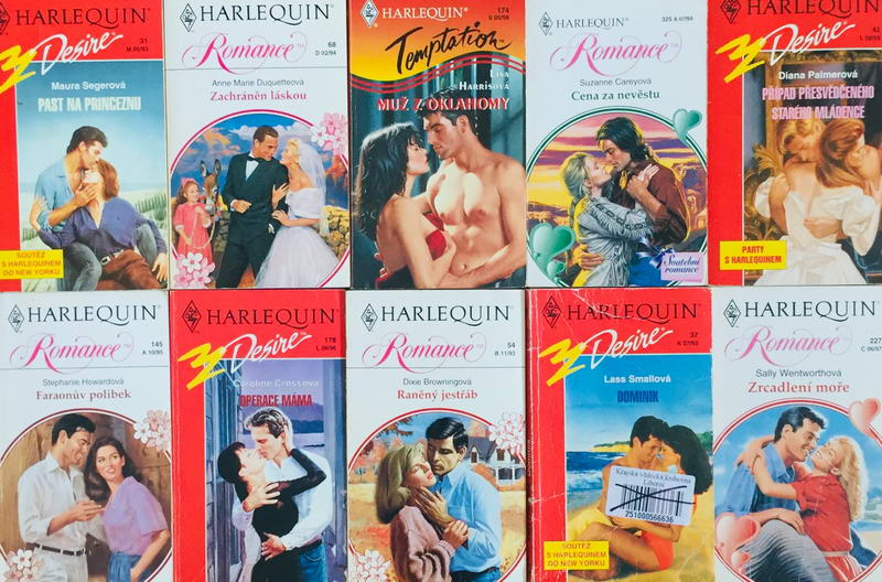 Velká knižní kolekce Harlequin 14. - 10x bazarová kniha