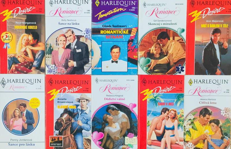 Velká knižní kolekce Harlequin 15. - 10x bazarová kniha