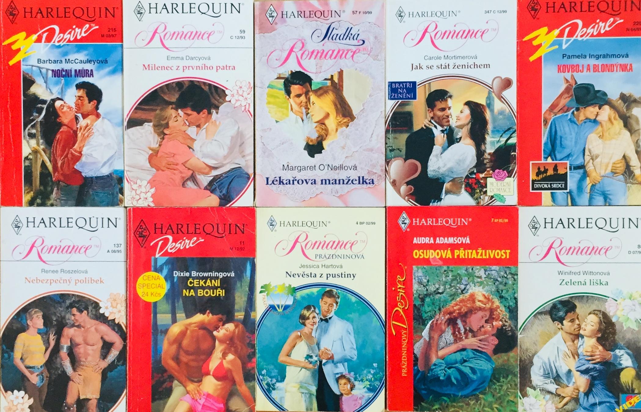 Velká knižní kolekce Harlequin 16. - 10x bazarová kniha