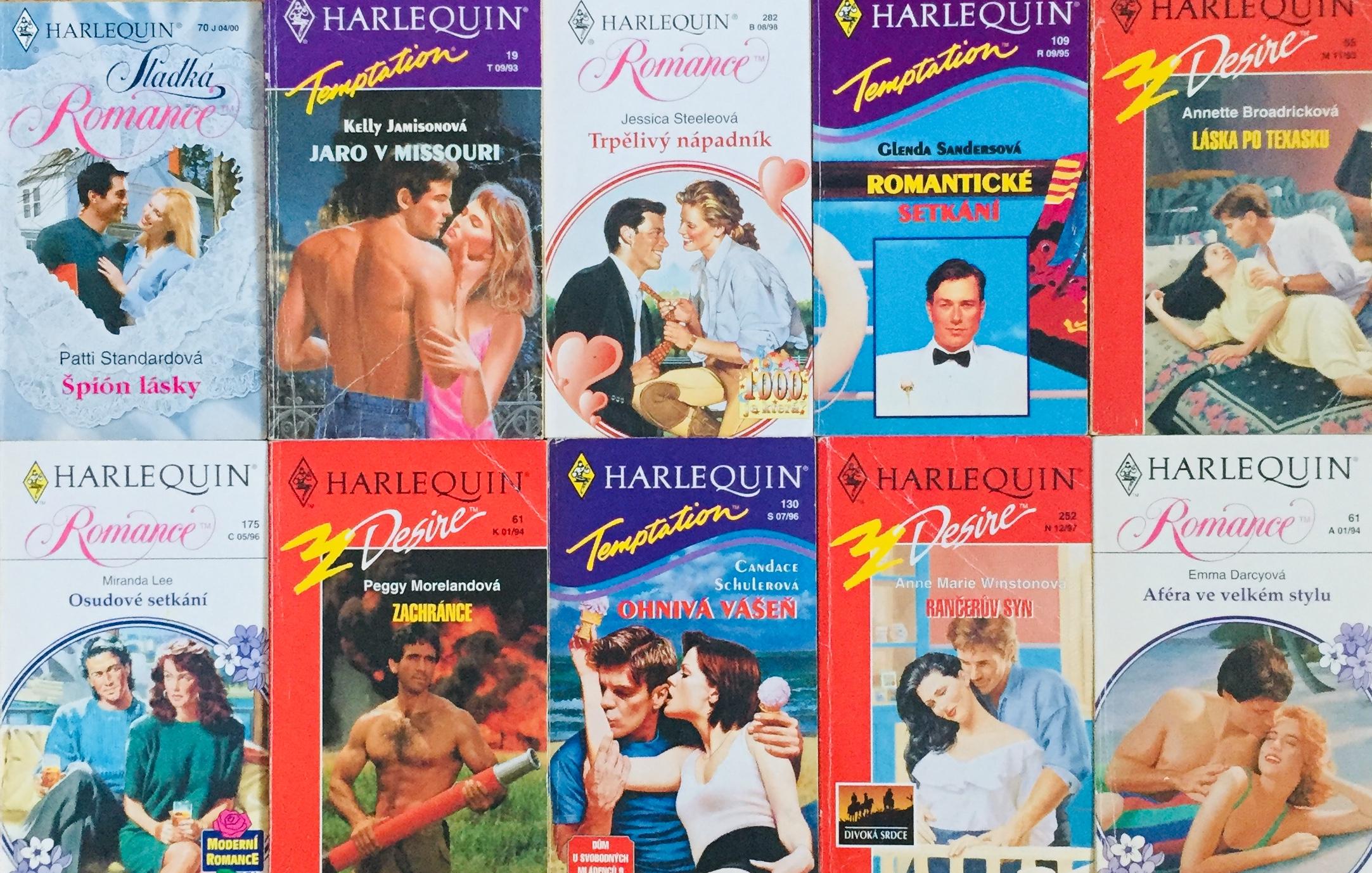 Velká knižní kolekce Harlequin 17. - 10x bazarová kniha