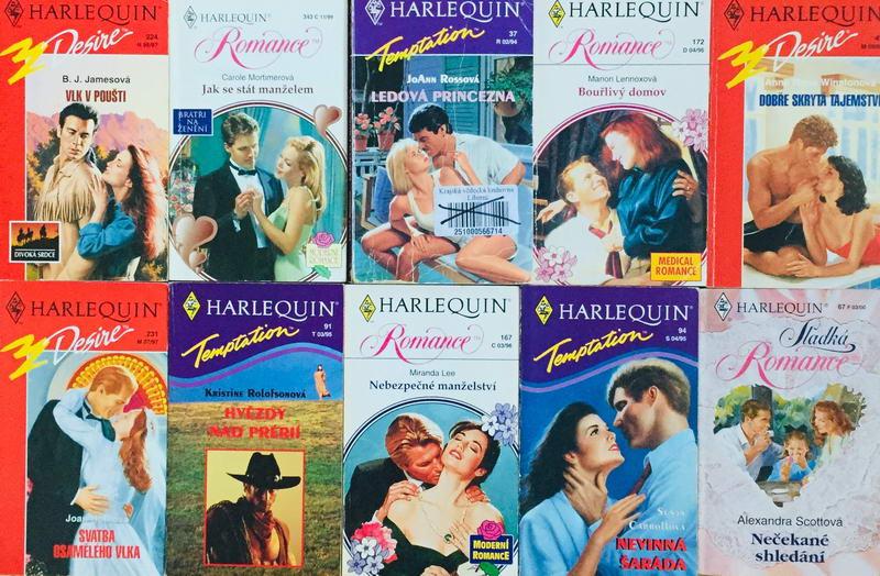 Velká knižní kolekce Harlequin 18. - 10x bazarová kniha