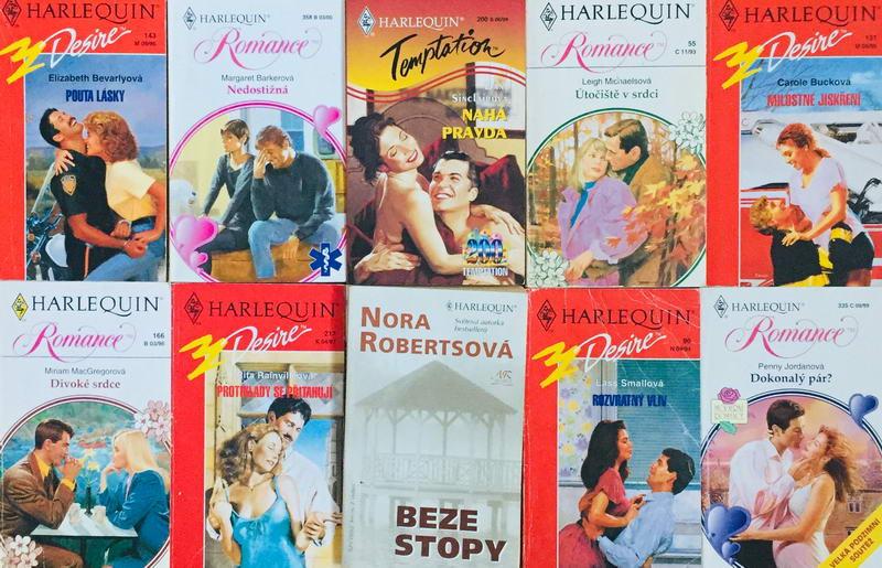 Velká knižní kolekce Harlequin 20. - 10x bazarová kniha