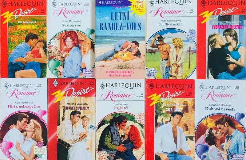 Velká knižní kolekce Harlequin 22. - 10x bazarová kniha